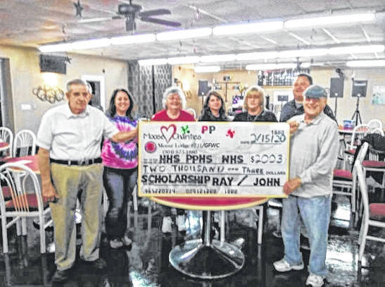 The Moose Lodge #731 and the Point Pleasant Women's Club raised $2,000 for scholarships for high school seniors in Mason County.