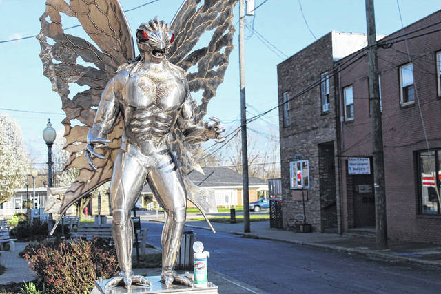 Though much has changed recently, one of Mason County's most famous residents, pictured here, remains on his perch at Fourth Street in Point Pleasant. Mothman still receives the occasional visitor who is in search of some fresh, spring air during this time of around-the-clock hand washing, social distancing and toilet paper sightings. Also, in case anyone is wondering, some disinfectant wipes work on stainless steel. Stay safe, Mason County.