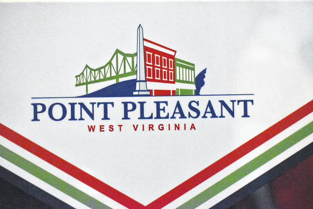 The new logo features a bridge, the monument at Tu-Endie-Wei, Main Street storefronts, and The Mothman.