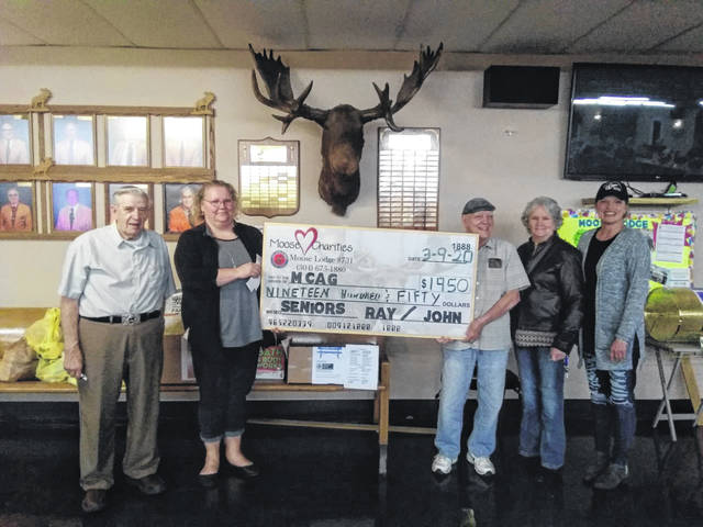 The Point Pleasant Moose Lodge #731 raised money for the Mason County Action group during its March charity bingo event. The proceeds totaled $1,950.