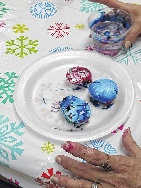 A group of members from Western WV Rocks recently went to the Gene Salem Senior Center to paint rocks with their participants.
