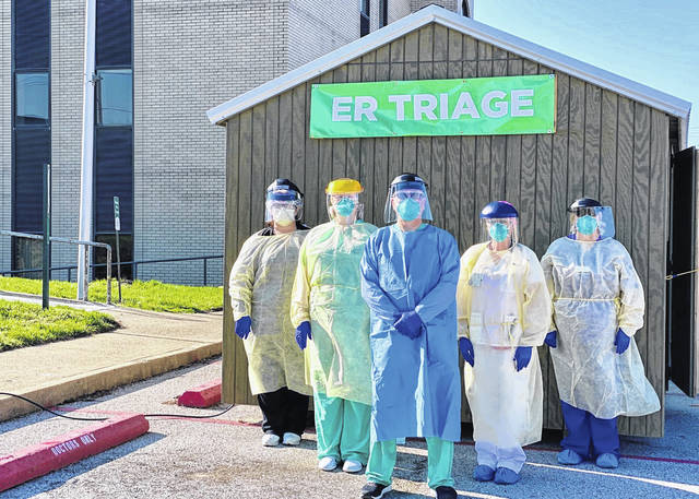Pleasant Valley Hospital has prepared a dedicated triage building, pictured, located outside the ER to help contain and treat potential COVID-19 patients. The site will open on Saturday, April 4.