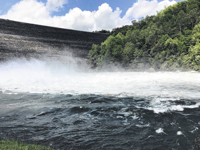 Whitewater rafting and zipline businesses are among those given the green light to reopen this month. Pictured is the Gauley River National Recreation Area located near Summersville.