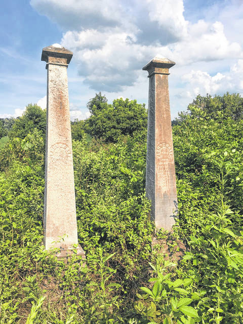 The tombstones of brothers James Robert and John Thomas Hall. (Chris Rizer | Courtesy)