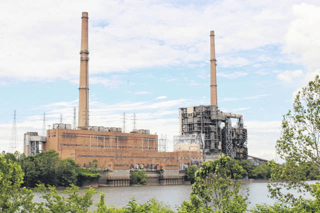 A view of the former Philip Sporn Plant in New Haven taken from the Meigs County, Ohio side of the river on Monday. (Sarah Hawley | OVP)