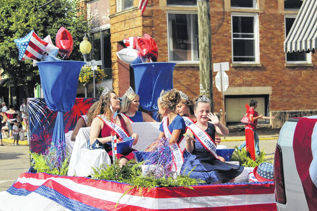 Pictured is the first royal court for Liberty Fest in the inauguaral parade held last year. Royaly will retain their title for another year as the festival has been canceled due to COVID-19. (OVP File Photo)