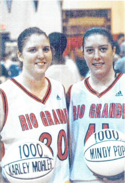 Former University of Rio Grande basketball star, and Rio Grande Athletic Hall of Famer, Karley Mohler, pictured left, recently started a scholarship with wife Rebekah Dilworth, in memory of her former teammate and friend, Mindy Pope, pictured right. The new scholarship at the University of Rio Grande was established to assist individuals who have persevered or been impacted by a hardship or traumatic life event. (Rio | Courtesy)