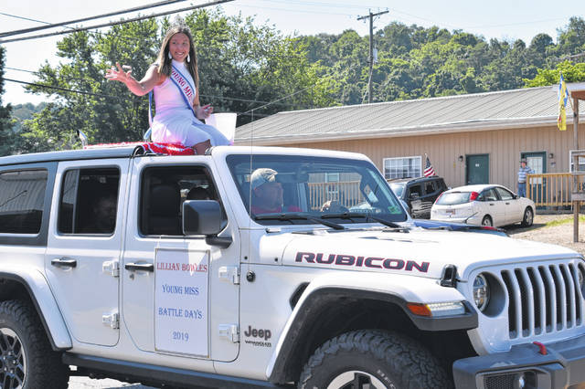 Royalty is an important part of any parade, and the Fourth of July parades in the Bend Area were represented by many. Young Miss Battle Days Lillian Bowles is pictured.