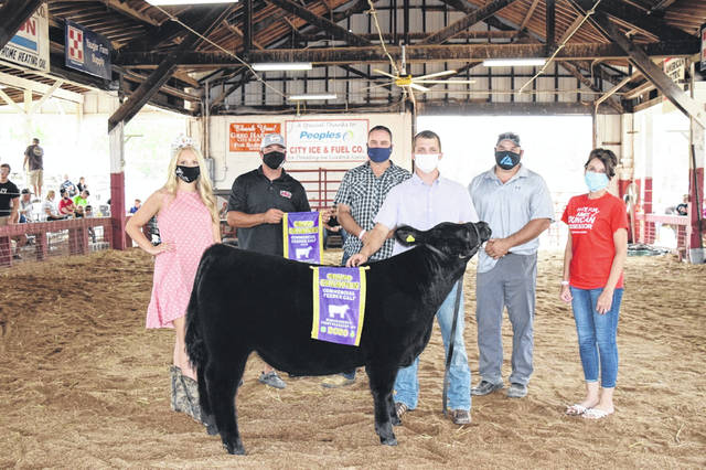 The Grand Champion Beef Feeder, shown by Colton Arrington, sold for $10 per pound to Alltek Environmental Services - Tommy Mayes, Prim Law Firm, Feed Stop, Runyon Logging, Bend Area Chiropractor, and Aimee Duncan for Assessor.
