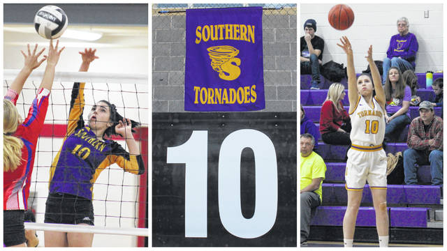 "Southern High School senior Jordan Hardwick was a three sport athlete, participating in volleyball, basketball and softball. Hardwick was remembered this week with her number ""10"" and a Southern banner on King Field in Syracuse where her memorial service was held on Wednesday. (Alex Hawley and Sarah Hawley 