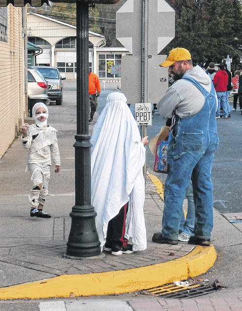 Though the Point Pleasant Halloween Block Party has been canceled this year due to the pandemic, trick-or-treat is still on for Oct. 29. Pictured are attendees at a past block party. (OVP File Photo)