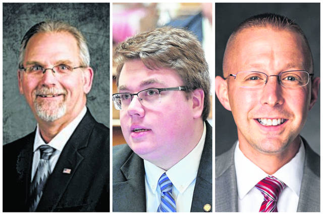 Candidates for the House of Delegates, 13th District, pictured from left, Scott Brewer, incumbent Joshua Kurt Higginbotham, Jonathan Adam Pinson. Not pictured David Ray Caldwell. (Courtesy)