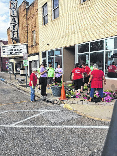 Members of Point Pleasant In Bloom and other volunteers are often found planting flowers and improving the aesthetics of the city. Pictured are beautification efforts done prior to the pandemic. (PPIB | Courtesy)