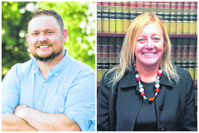 Pictured are Republican Seth Gaskins and Democrat Tanya Handley who are both vying to become Mason County's next Prosecuting Attorney. (Courtesy)