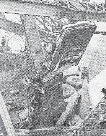 This car is pulled from the disaster site.