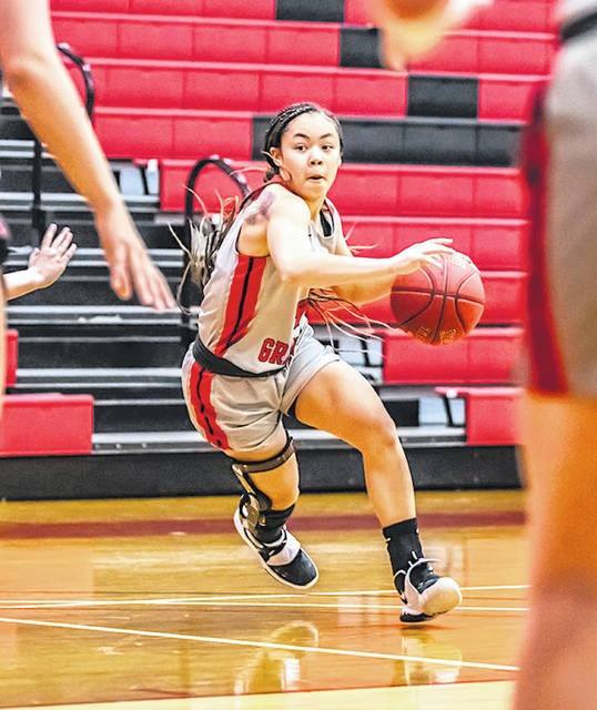 Rio Grande's Chyna Chambers had 13 points and four steals in Friday night's 92-88 win at Goshen College.