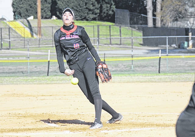 Rio Grande pitcher Raelynn Hastings and the rest of her RedStorm teammates were picked second in the 2021 River States Conference Softball Coaches' Preseason Poll.
