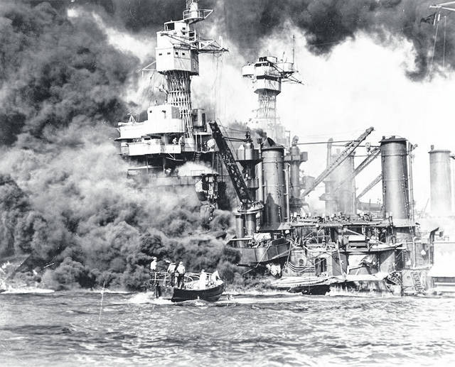 The USS West Virginia suffered massive damage from torpedoes and bombs during the attack of Pearl Harbor. (West Virginia Humanities Council | Courtesy)
