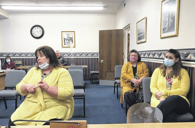 Mason County Commissioners met with Lakin Hospital employees on Tuesday, including Administrator Danelle Wandling and employees Amber Workman and Annette Hill. Commissioners reportedly reached out to Lakin representatives following proposed legislation which could close the facility. (Mason County Commission | Courtesy)