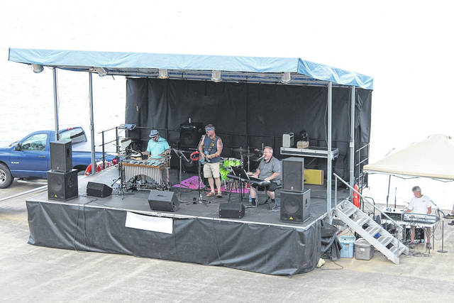 Pictured from a previous Liberty Fest is Blue Moves taking the Riverfront Park stage in Point Pleasant. (OVP File Photo)