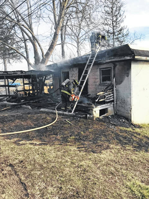 Firefighters with the Point Pleasant Volunteer Fire Department responded to this home on Neal Road for a structure fire call on Tuesday. (Point Fire Department | Courtesy)