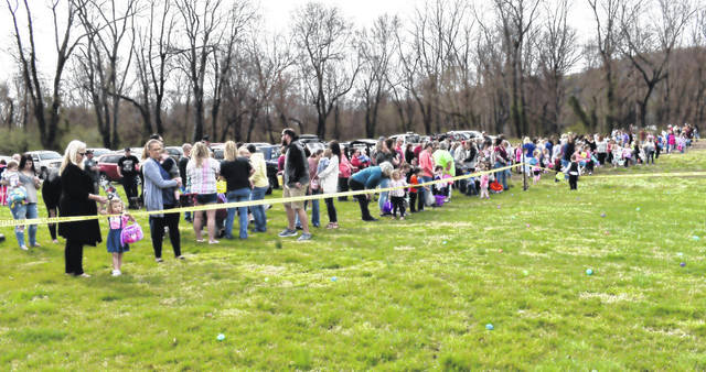 Perhaps the largest number of children in recent years attended the New Haven Easter egg hunt at the ballfields on Saturday. The weather was perfect for the annual hunt.