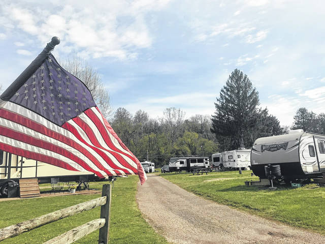 The campground at Krodel Park has reopened for the season and upgrades are planned. The campground is pictured on Tuesday, with several travel trailers and RV's having already arrived to enjoy the park. (Beth Sergent | OVP)