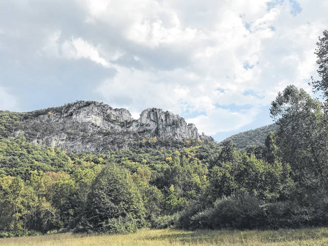 Pictured is Seneca Rocks in Pendleton County, a popular location in West Virginia for both natives and tourists from other states. (Beth Sergent | OVP)