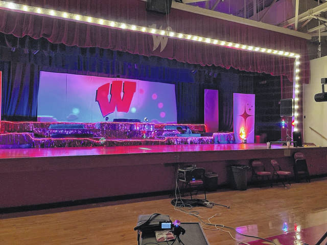 The Wahama gymnasium, though shown empty, has been the site of school choir members performing for the past few weeks. The performances have been placed on a DVD to be passed out during a take-out benefit spaghetti dinner on April 9 and 10. (Wahama Choir | Courtesy)