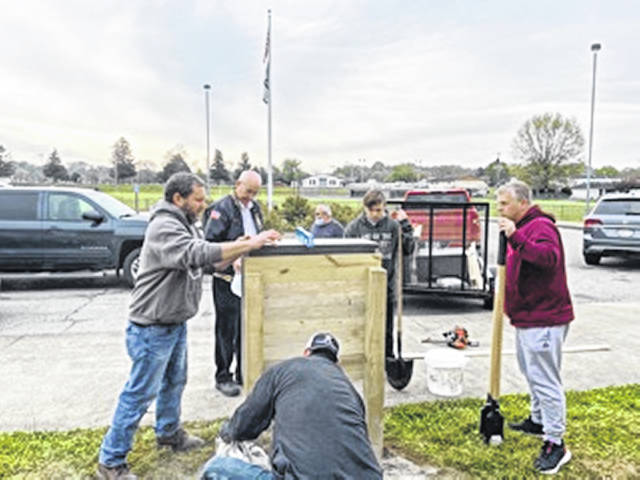Volunteers installed four blessing boxes at elementary schools throughout Mason County on Friday.
