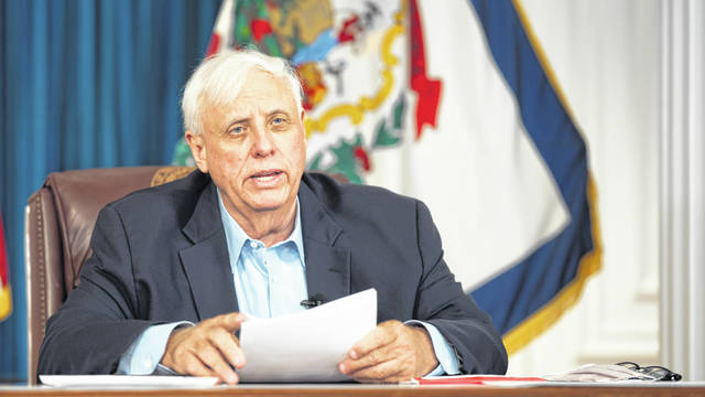 Gov. Jim Justice discusses vaccination efforts during Wednesday's news briefing, including plans to offer vaccine clinics at schools and state parks.