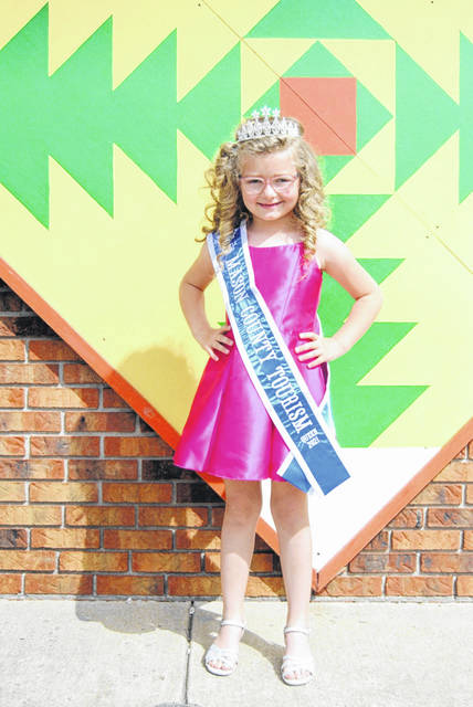 Lillian Roush, 6, daughter of Michael and Brandy Roush of New Haven, is this year's Little Miss Mason County Tourism Queen.