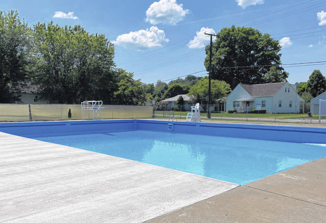 Many upgrades and improvements to the New Haven Municipal Swimming Pool have been made this season, including a new ladder and railing in the 10-foot section, and the pool's new, darker painted color. The pool will open Saturday at noon to the public, and there will be free admission all season.