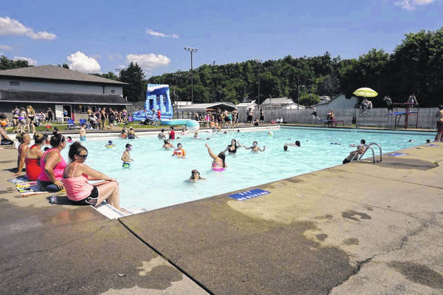 A previous summer scene at the New Haven Municipal Swimming Pool.