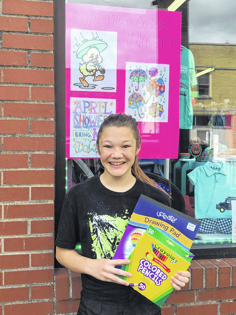 Jocelyn Nott won first place in the grades 7-12 division of the contest.