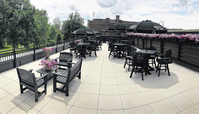 The rooftop patio at OVB on the Square is pictured on an usually sunny day (at least compared to this week's clouds). The patio is perched above Second Avenue with an enviable view overlooking Gallipolis City Park. The plan is to eventually make the patio, along with adjacent conference area, available for public use for different events, in the future. For now, employees and visitors can glimpse Gallipolis from this unique perspective three stories above the street.