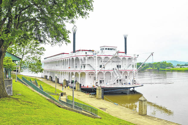 The American Duchess, a river cruise ship, recently docked at Riverfront Park in Point Pleasant, visiting historic downtown and Fort Randolph at Krodel Park. The vessel was spotted by many in the area along the Ohio River, including Mason County's neighbors in Gallia and Meigs counties. According to the schedule of events from the Mason County Convention and Visitors Bureau, the vessel is expected to return to Point Pleasant's riverfront on July 2. The vessel is also expected to dock on the Ohio River Levee in Marietta, Ohio today, according to the Marietta-Washington County Convention and Visitors Bureau.