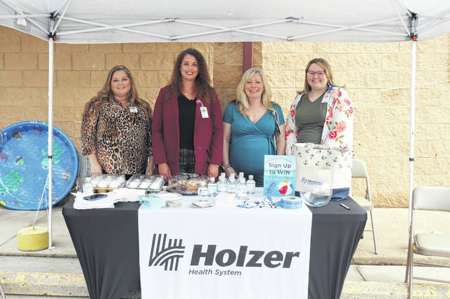 Holzer Health at Fruth Pharmacy in Pomeroy, Ohio, recently hosted an open house event. Pictured are a few of the staff available at the Holzer Health at Fruth Pharmacy Pomeroy location, from left, Tara Leach, Meggan Sidler, NP, Amanda Coleman, RN, MSN, and Shalynn Likens.