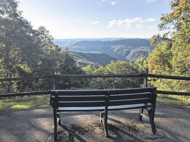 Prizes in a vaccine incentive giveaway will include a $1.588 million grand prize, a $588,000 second prize, weekend vacations at state parks, and more. Pictured is an overlook view at Pipestem State Park.