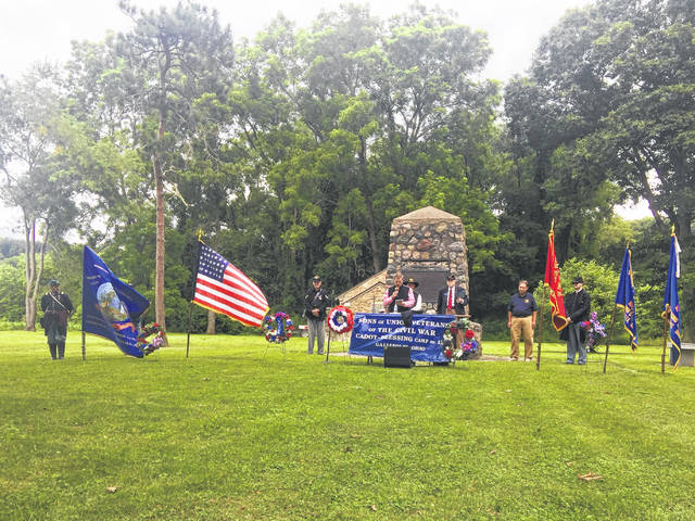 Numerous organizations took part in the Memorial Ceremony at Buffington Island.