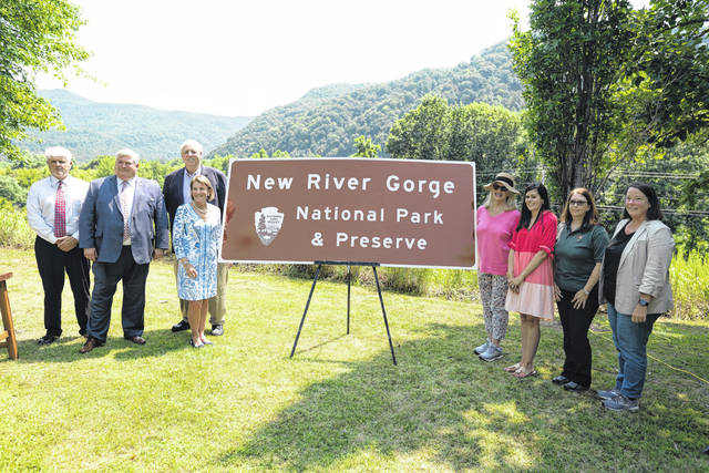 Gov. Jim Justice joined U.S. Senator Shelley Moore Capito, Congresswoman Carol Miller, and several other officials for an event on Friday celebrating the New River Gorge National Park and Preserve in southern West Virginia.