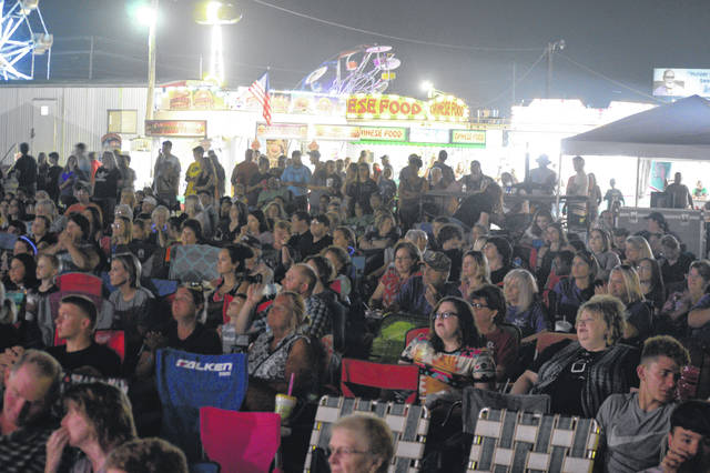 Pictured is a large crowd gathered for the Gallia County Jr. Fair's nightly entertainment in a previous year.