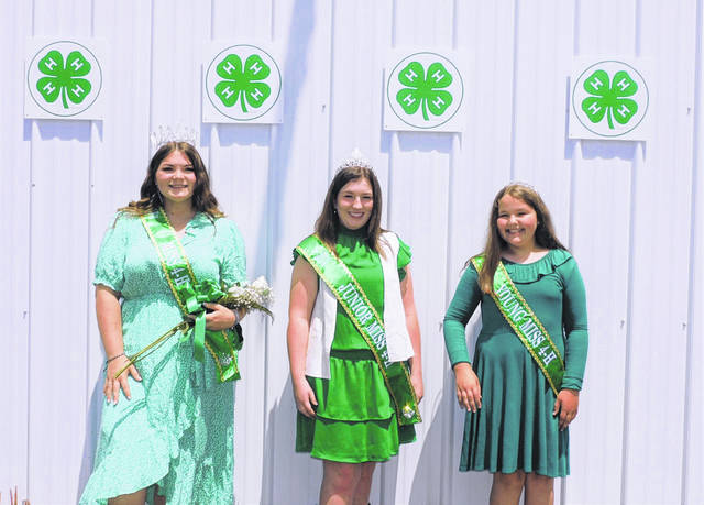 2021 queens are Miss 4-H Autumn Baker, Junior Miss 4-H Emma Deal, and Young Miss 4-H Kinzy Arbogast