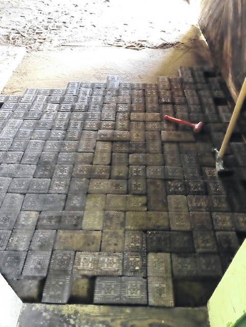 Star brick floor has been laid inside the freight station.