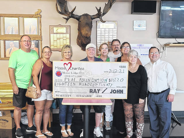 The Point Pleasant Moose Lodge helped to raise money for the Pleasant Valley Hospital Foundation last week during the July monthly charity bingo event.