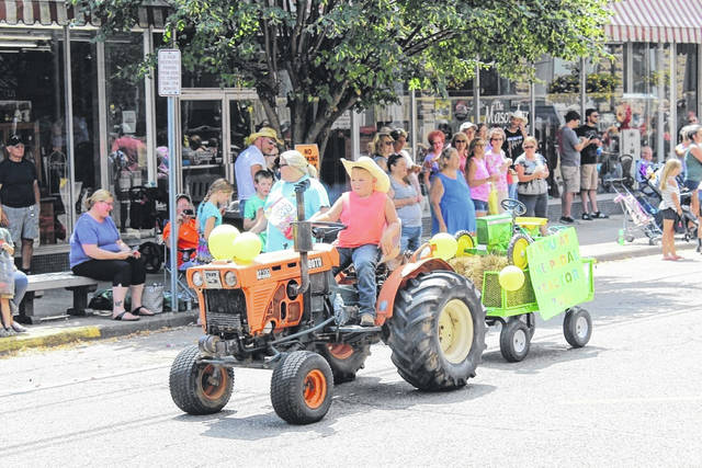 The Mason County Fair Parade kicks off at noon today in downtown Point Pleasant. Lineup is at 11 a.m. near Tu-Endie-Wei State Park. The parade will travel its normal route, north along Main Street. Pictured is a scene from the 2019 fair parade.