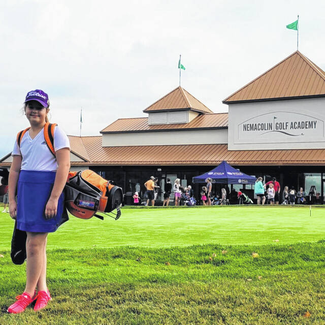 Pictured is local youth golfer Layla Nibert from Syracuse, Ohio.