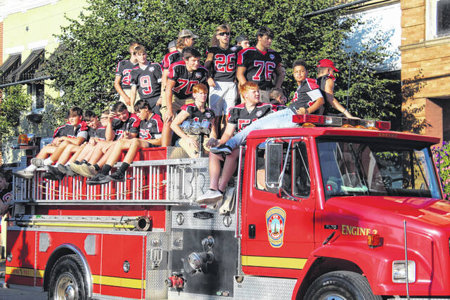 Pictured are more scenes from Thursday's parade in downtown Point Pleasant meant to celebrate 100 Years of Point Pleasant High School football.