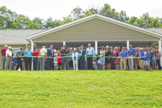 Pictured in 2017 is the ribbon cutting for Hope House at Field of Hope which has expanded its outreach over the years and includes its upcoming Community Carnival on Sept. 9 in Vinton.
