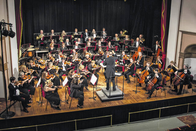The Ohio Valley Symphony during a previous performance at the Ariel Theatre, located in Gallipolis, Ohio.